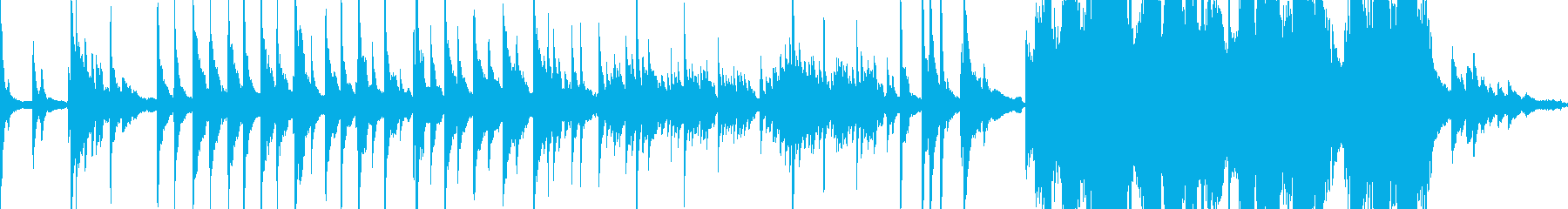 静かな夜の雰囲気のヒーリング・ピアノの再生済みの波形