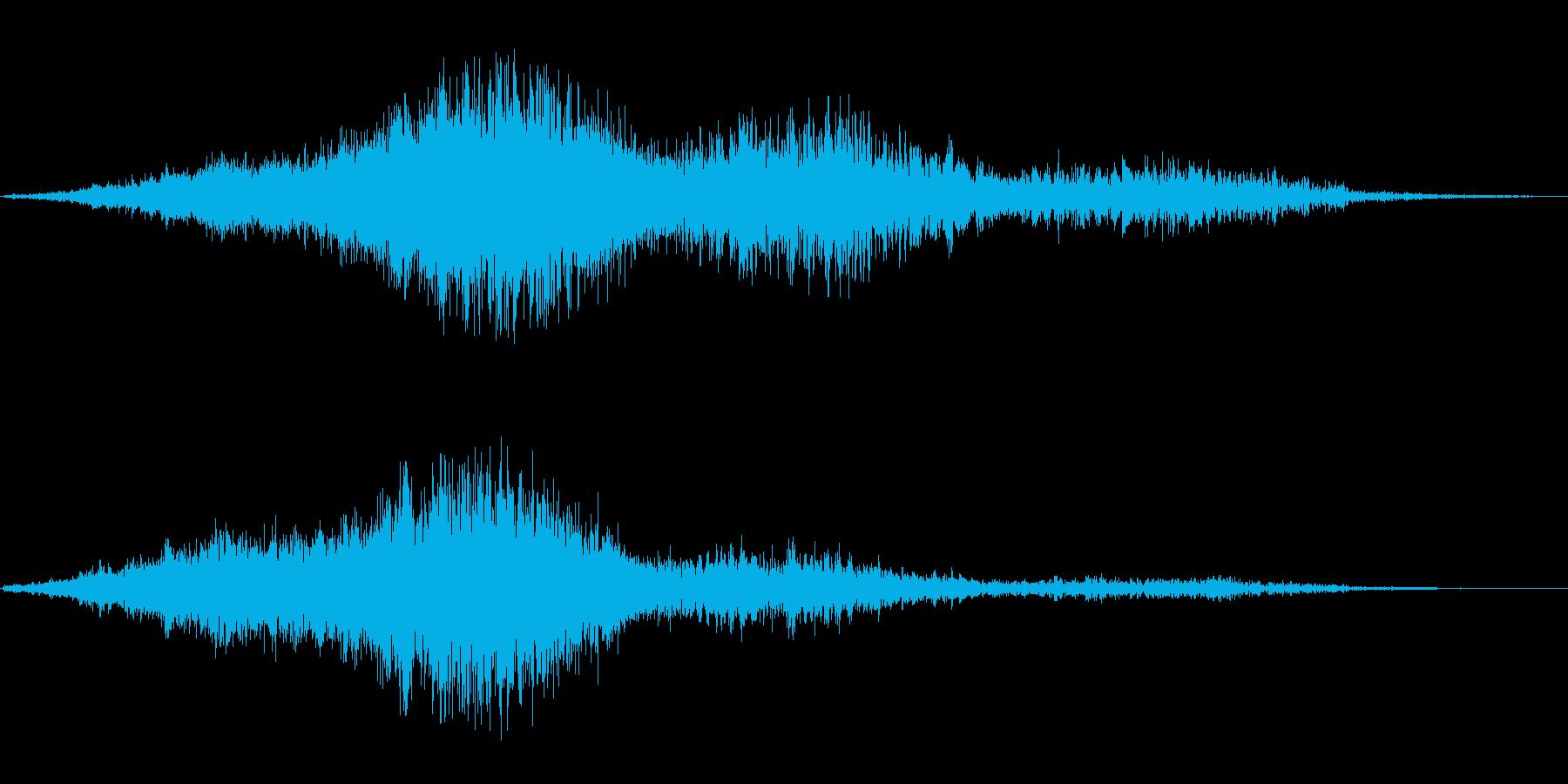 ジャオワォ(反響する耳障りな摩擦音)の再生済みの波形