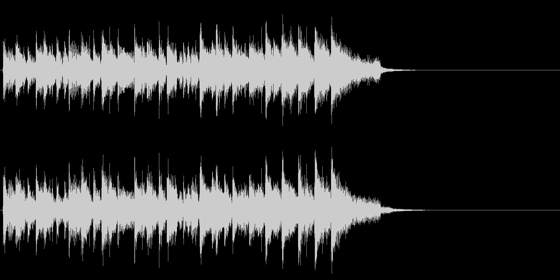メロウなフュージョン(イントロ)の未再生の波形