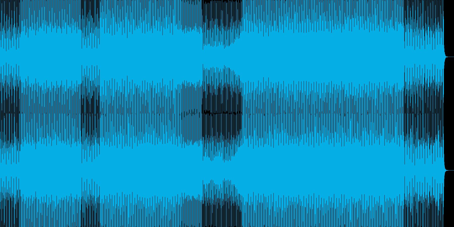 楽しげで華やかなポップテクノの再生済みの波形