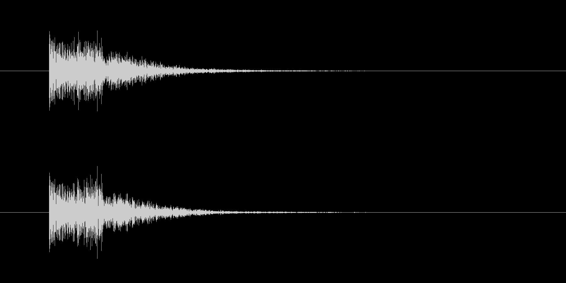 金属音(打撃系)の未再生の波形