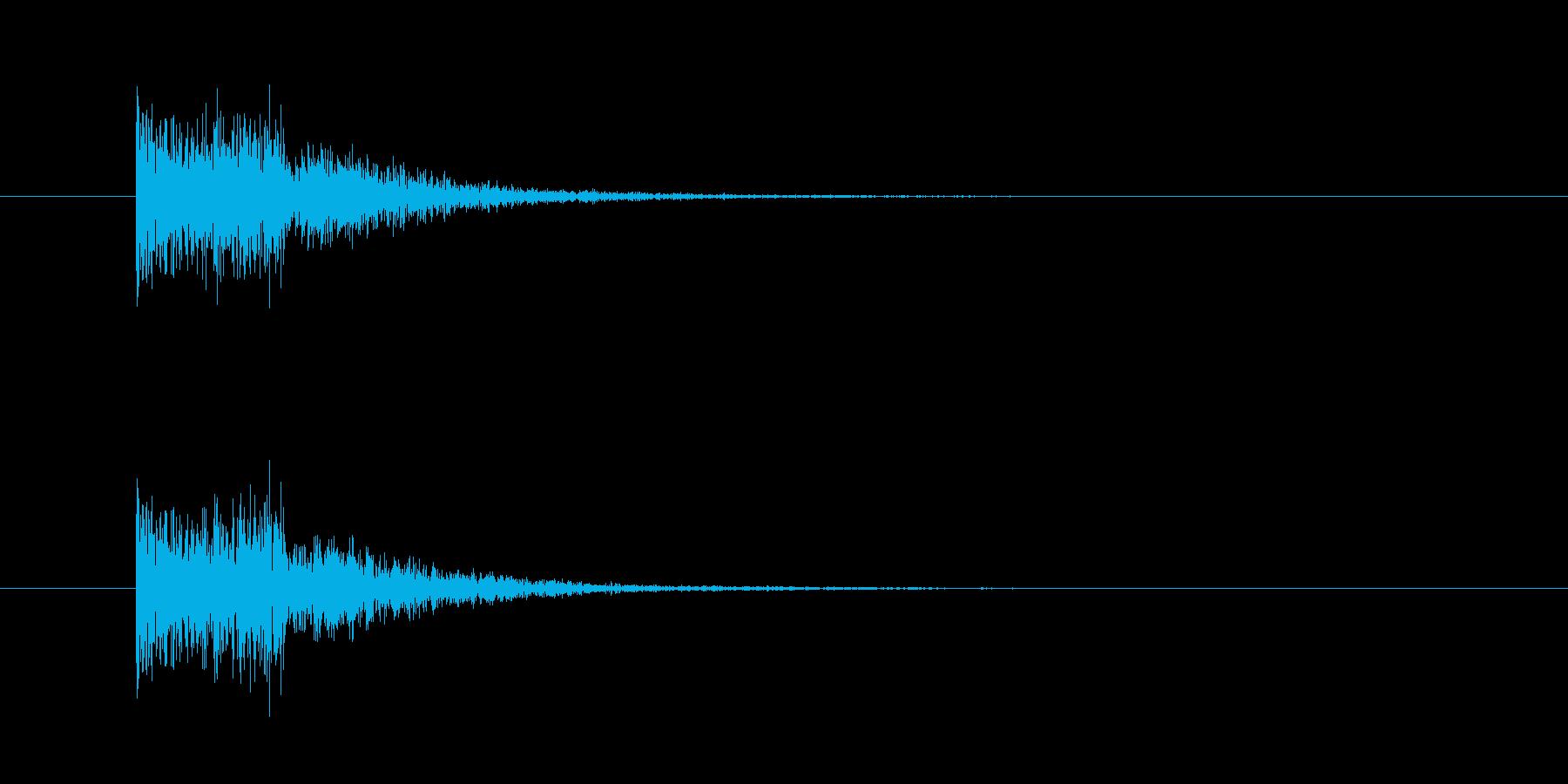 金属音(打撃系)の再生済みの波形
