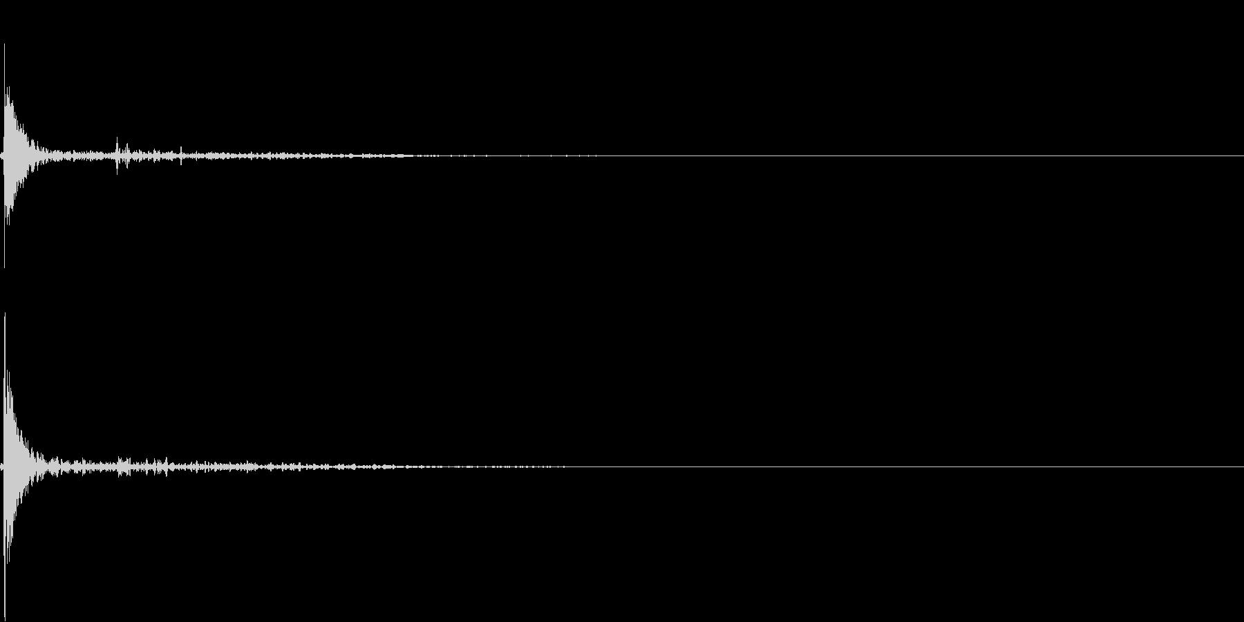 ビリヤードのショットの未再生の波形