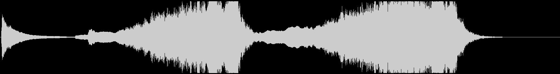 企業向けジングル-オーケストラの未再生の波形