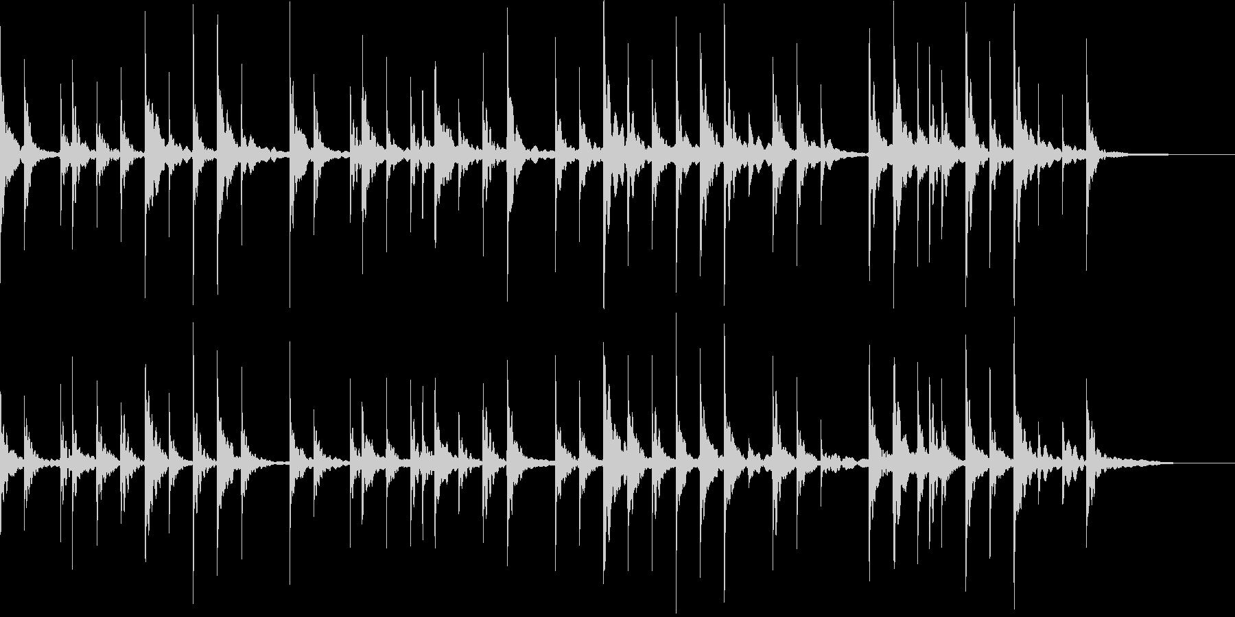 オルゴールをメインのゆるい感じの曲の未再生の波形