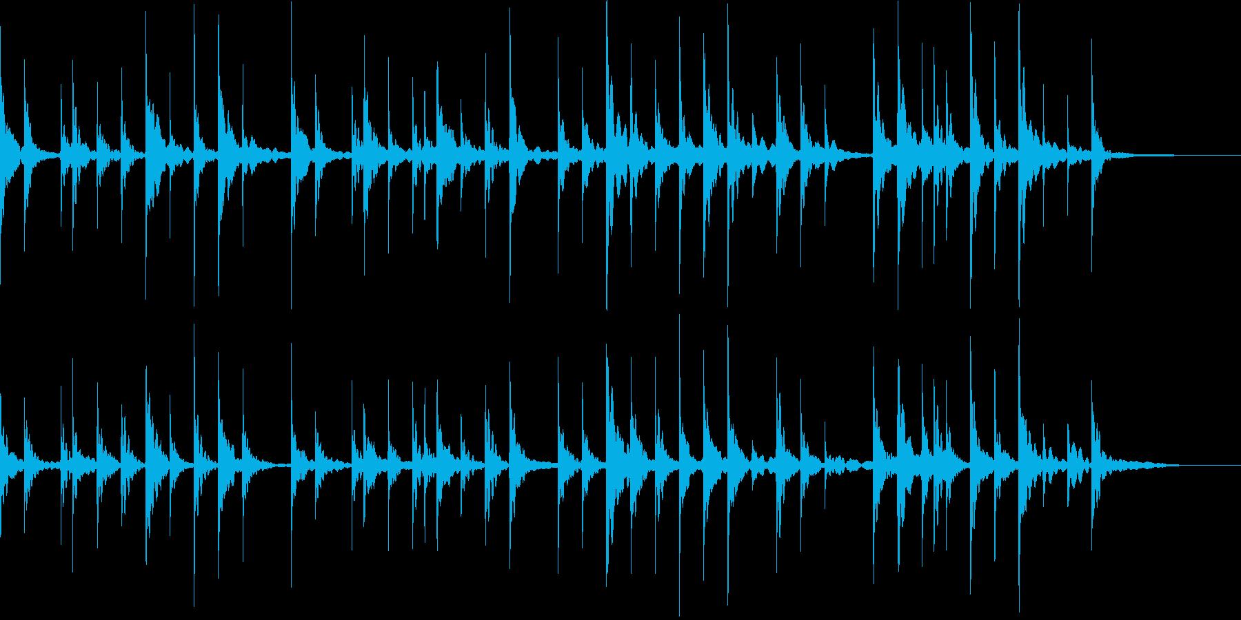 オルゴールをメインのゆるい感じの曲の再生済みの波形