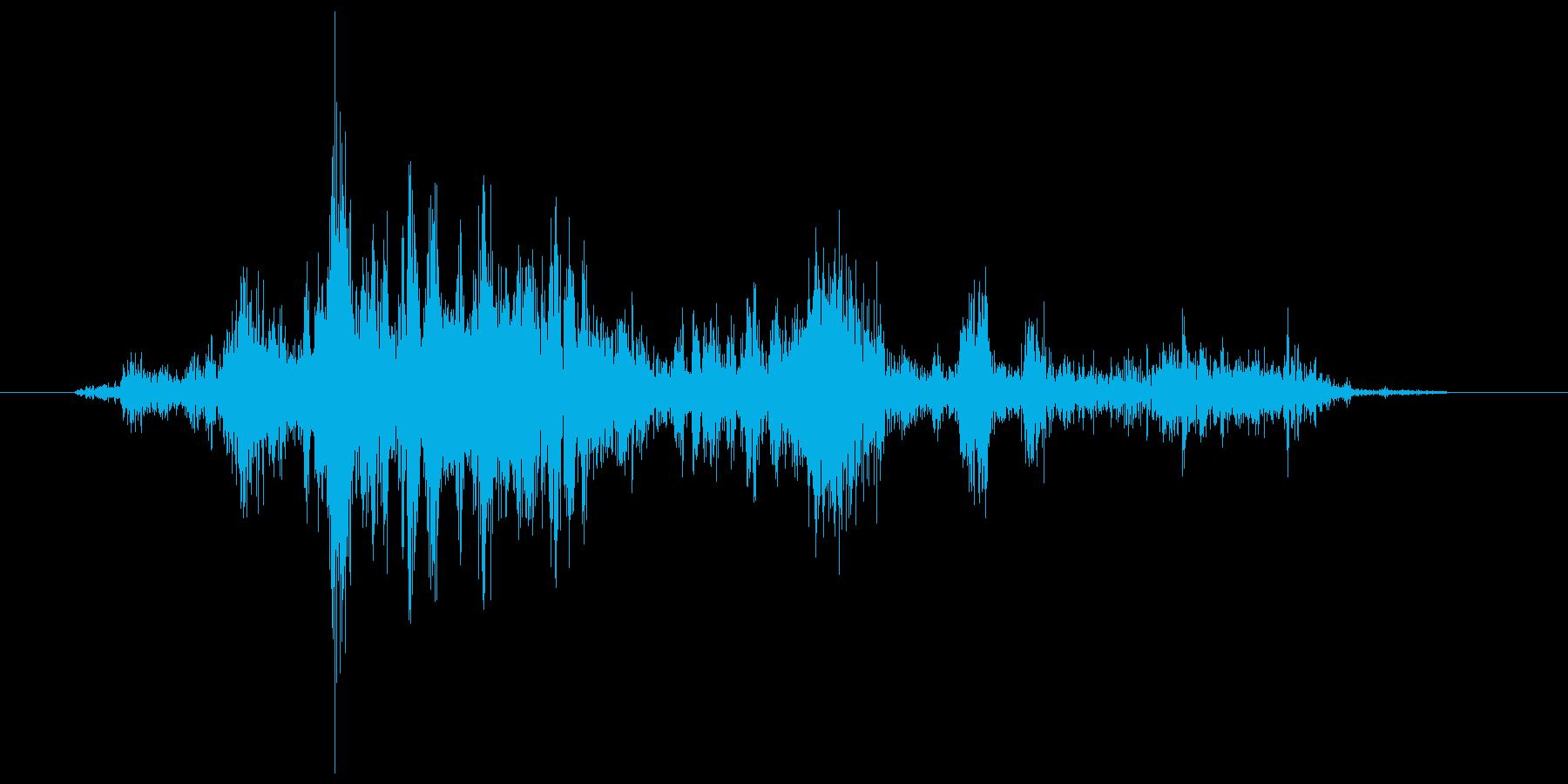 ガサガサ(開封、手紙、地図)の再生済みの波形