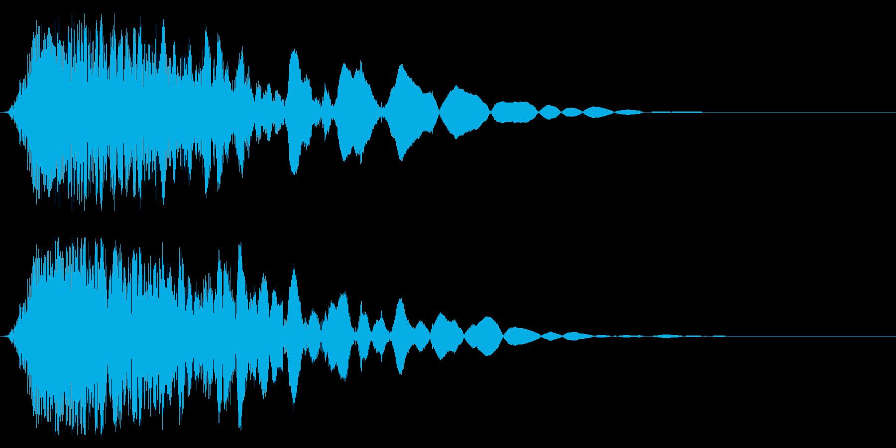 刀や剣 抜刀 斬撃の効果音 11の再生済みの波形