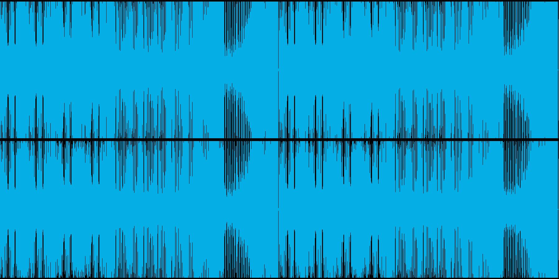 激しいダブステップループの再生済みの波形