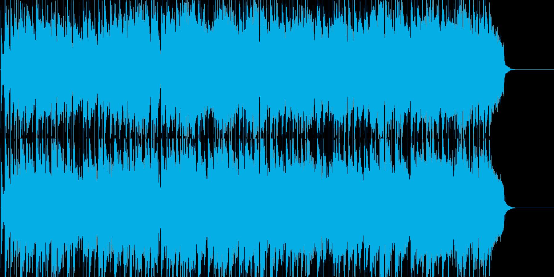 シンセリードが主旋律の優しいポップの再生済みの波形