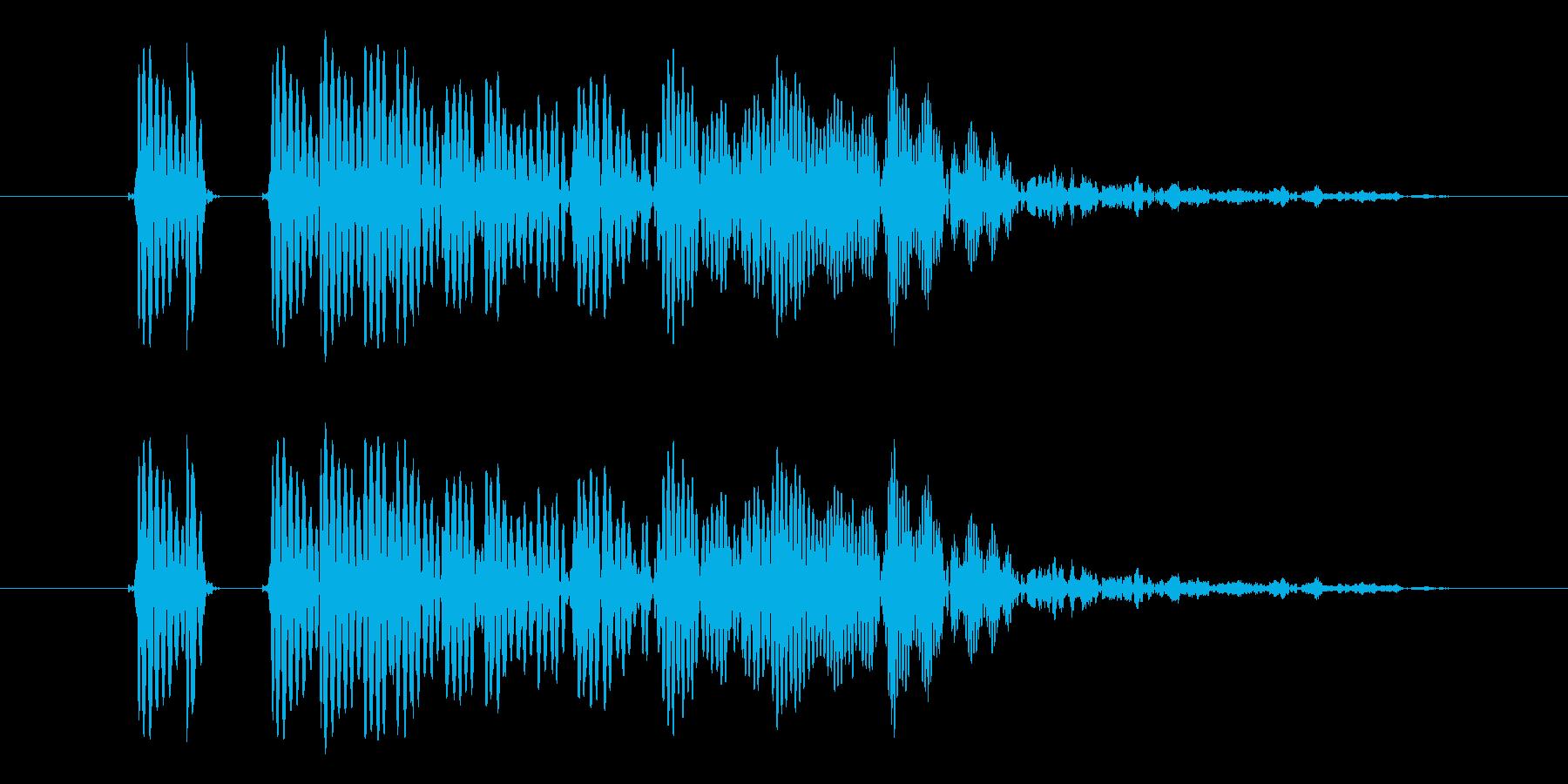 ポワ、ふざけた感じのビープ音、の再生済みの波形
