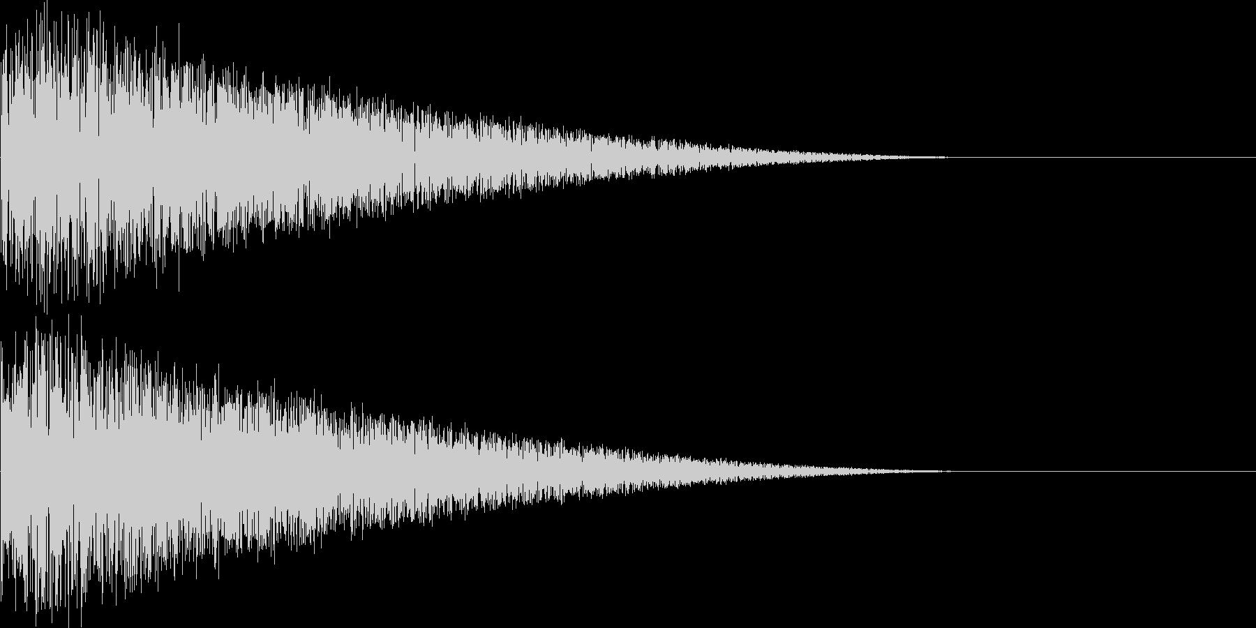 レトロゲーム風打撃音、ショット音の未再生の波形
