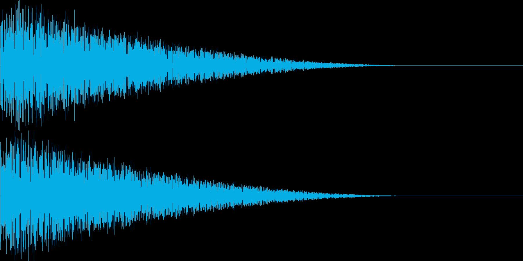 レトロゲーム風打撃音、ショット音の再生済みの波形