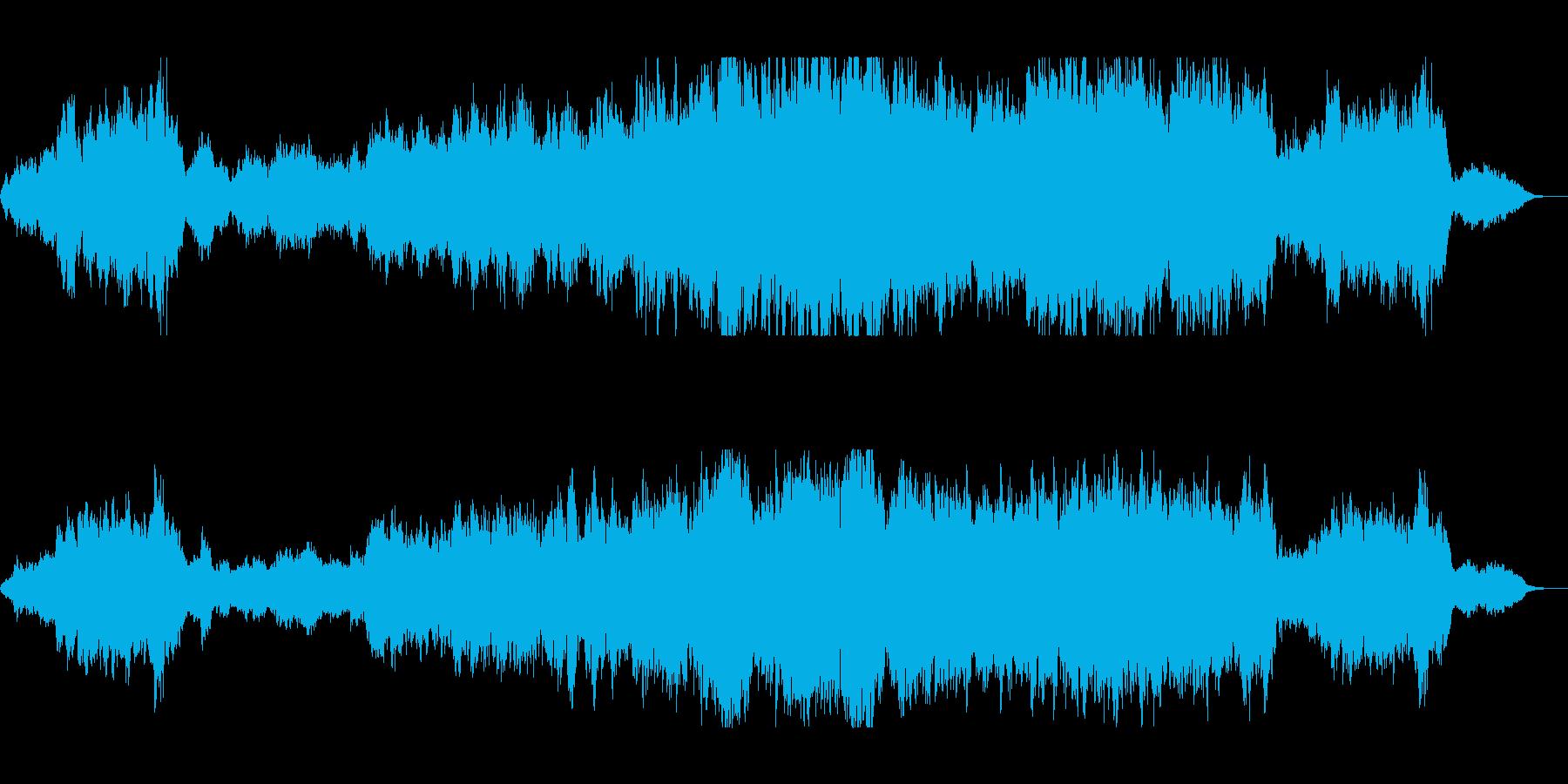 優しくゆったり管楽器シンセサウンドの再生済みの波形