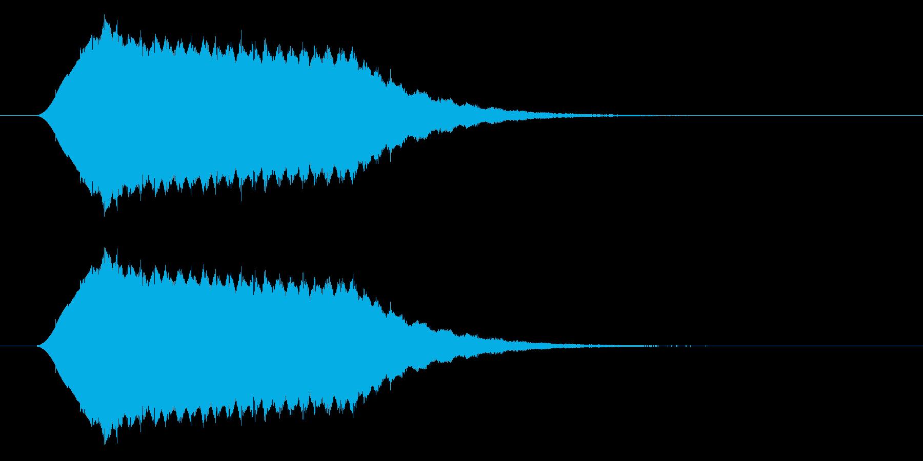 流れ星/キラキラ/落下の再生済みの波形