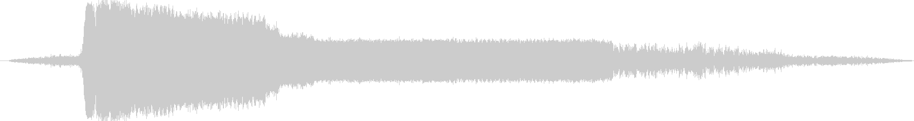 蒸気機関車の汽笛の未再生の波形