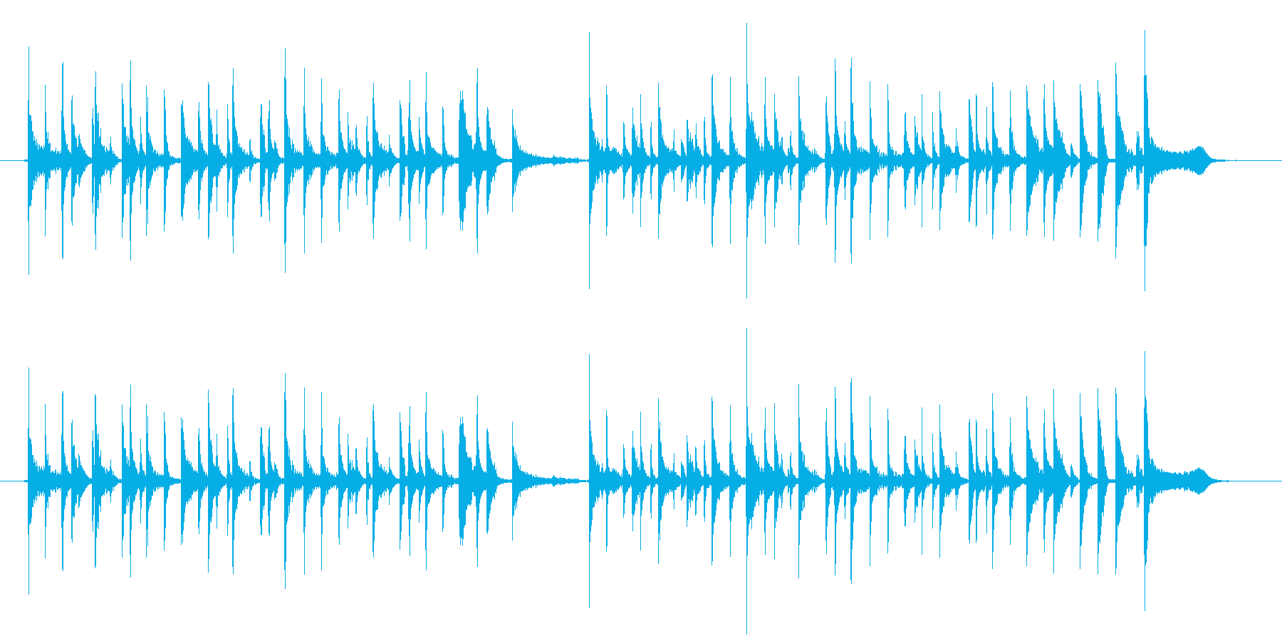 miyaviみたいなアコギ奏法の再生済みの波形
