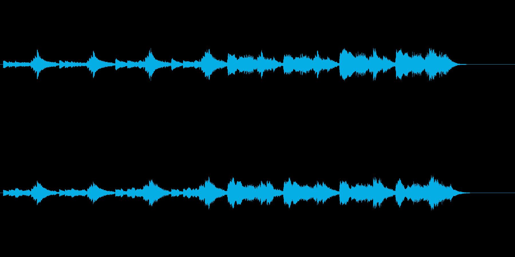 気怠く憂いを秘めた環境音楽の再生済みの波形