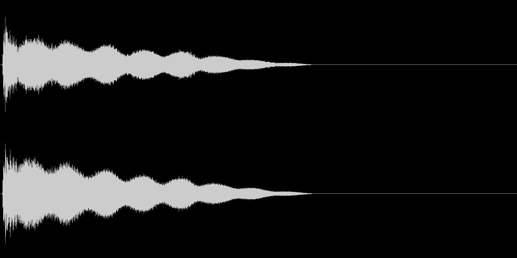 ごーん(鐘を叩いたときの音)の未再生の波形