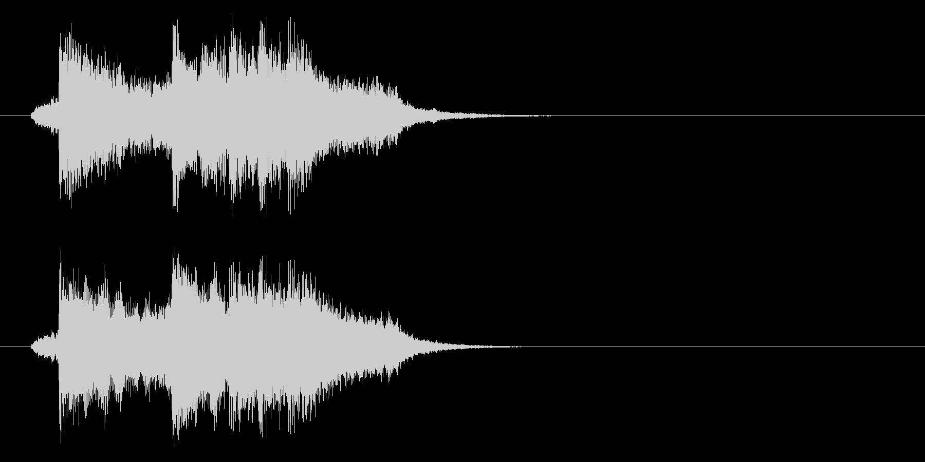 ジングル(ずっこけ演歌)の未再生の波形