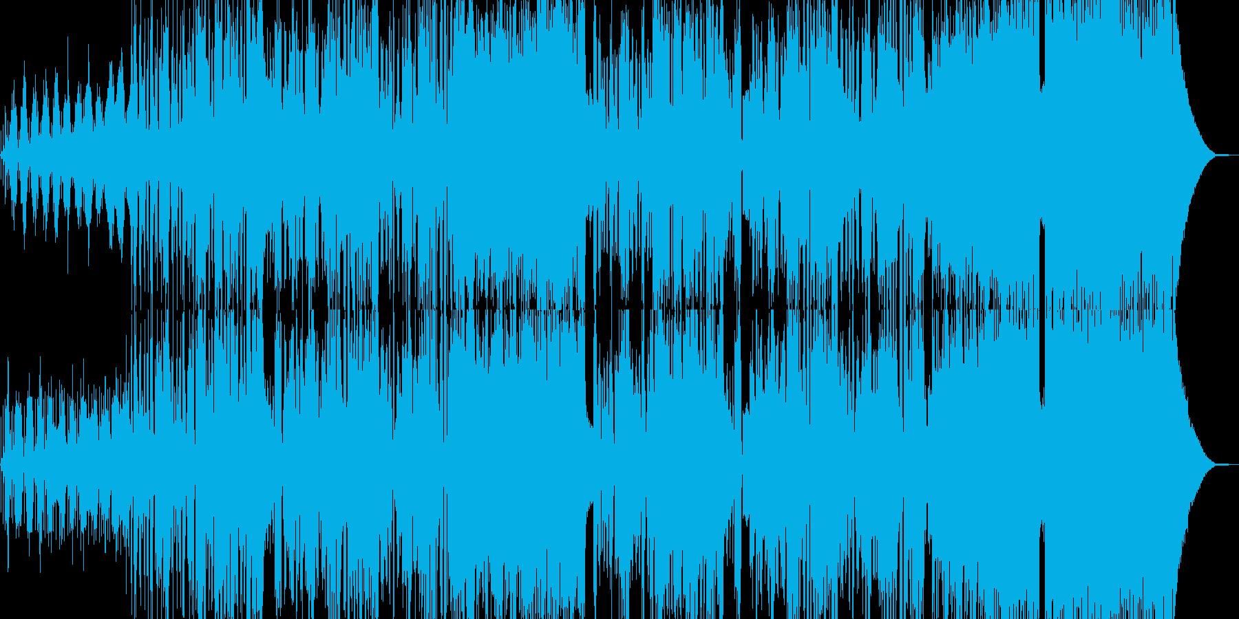 大自然イメージのドラムンベースの再生済みの波形
