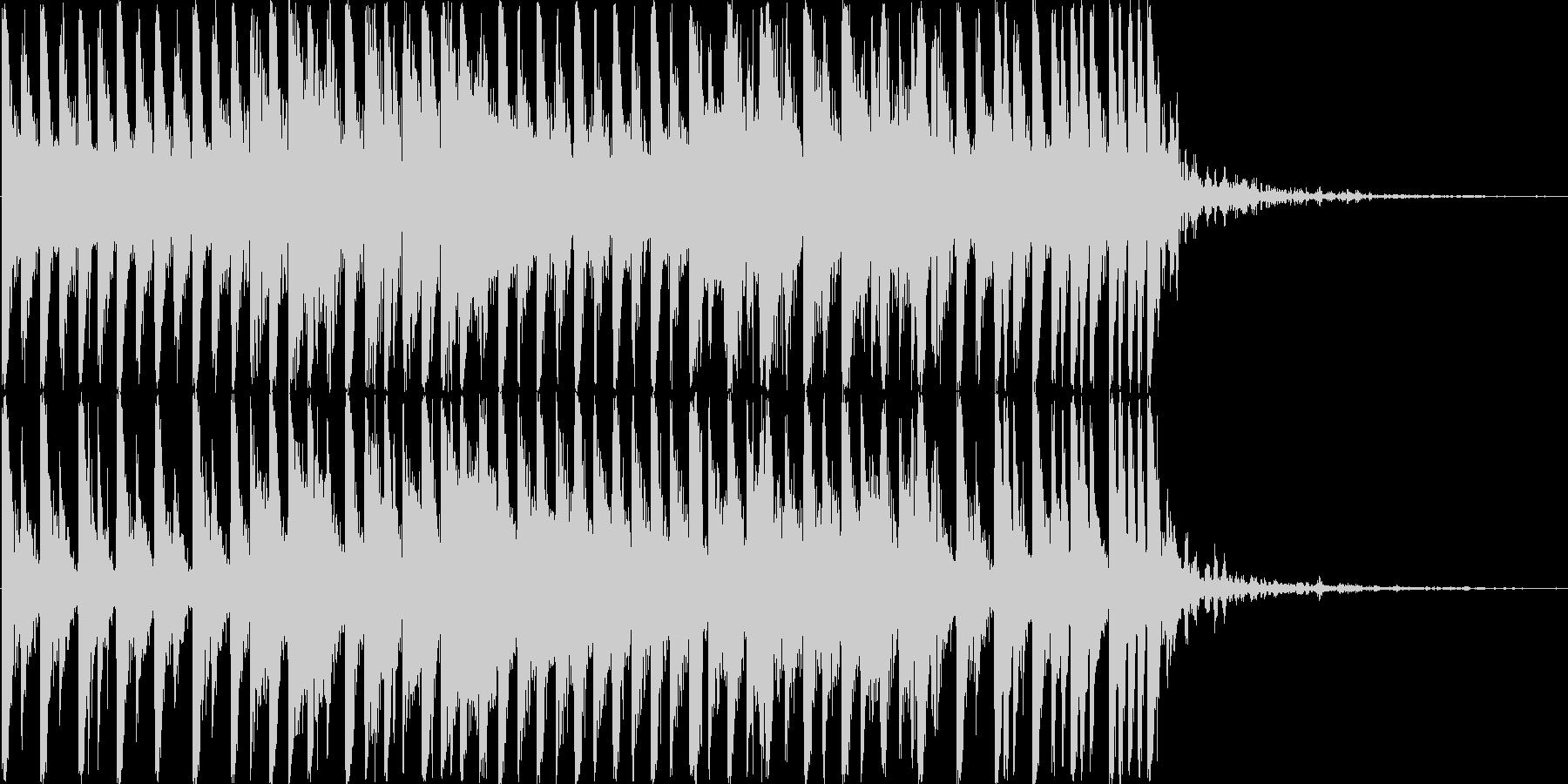 透明でおしゃれなシンセショートBGMの未再生の波形