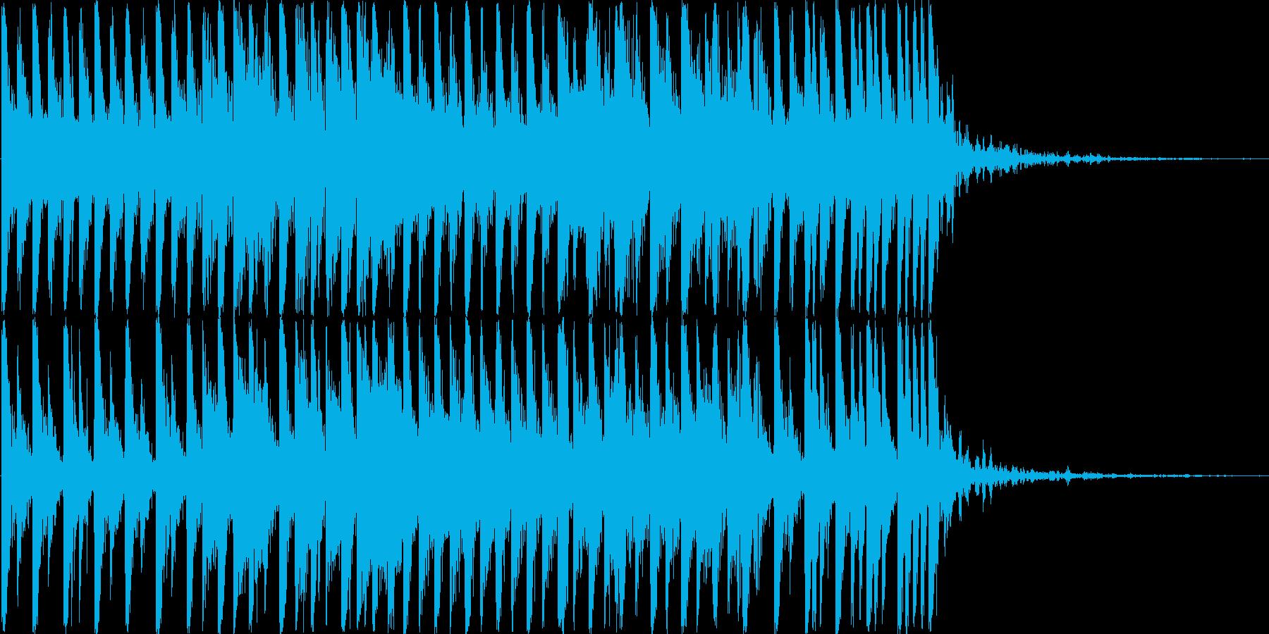透明でおしゃれなシンセショートBGMの再生済みの波形