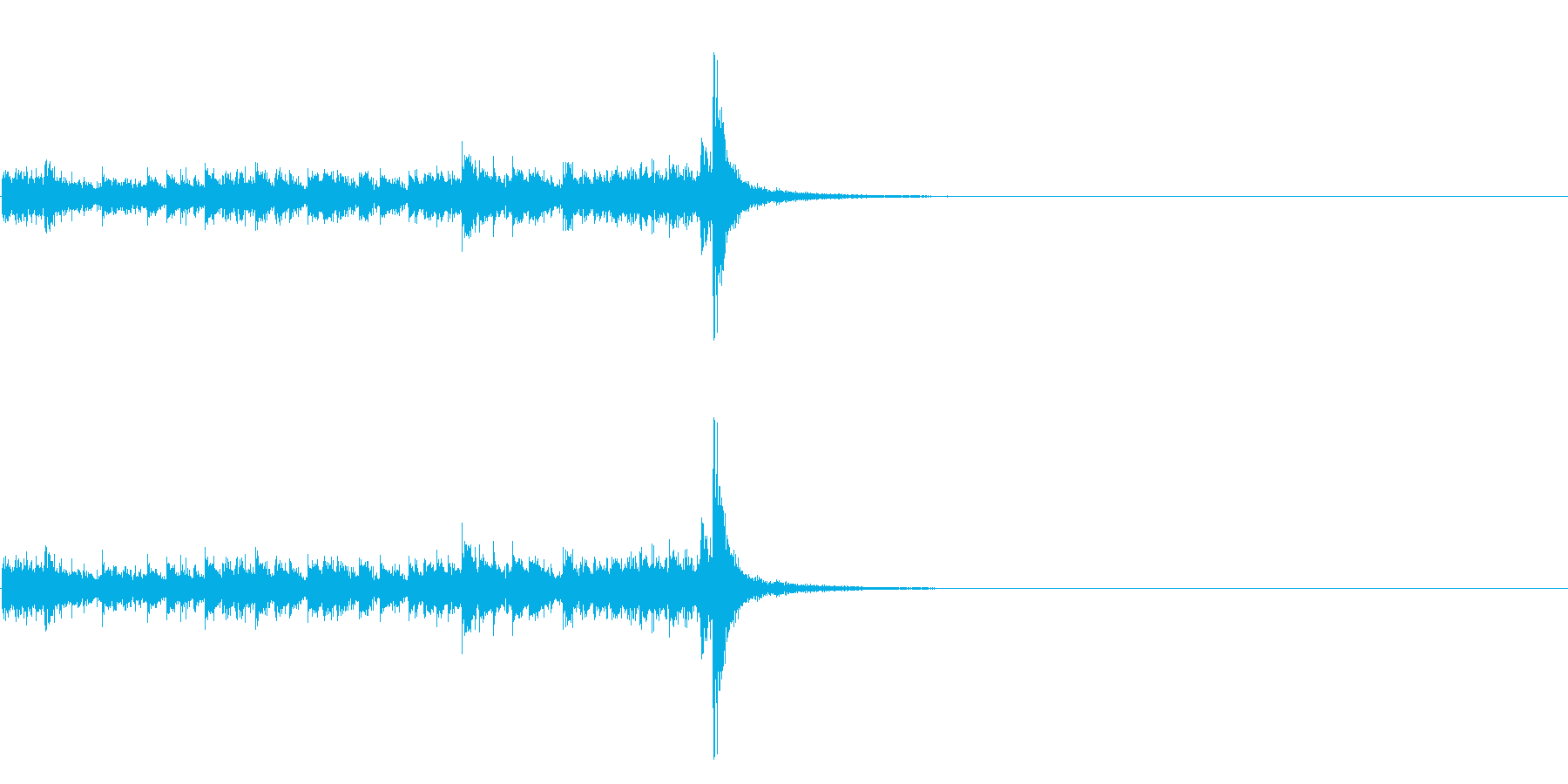 スタタタ タン! スネアロール3ショートの再生済みの波形