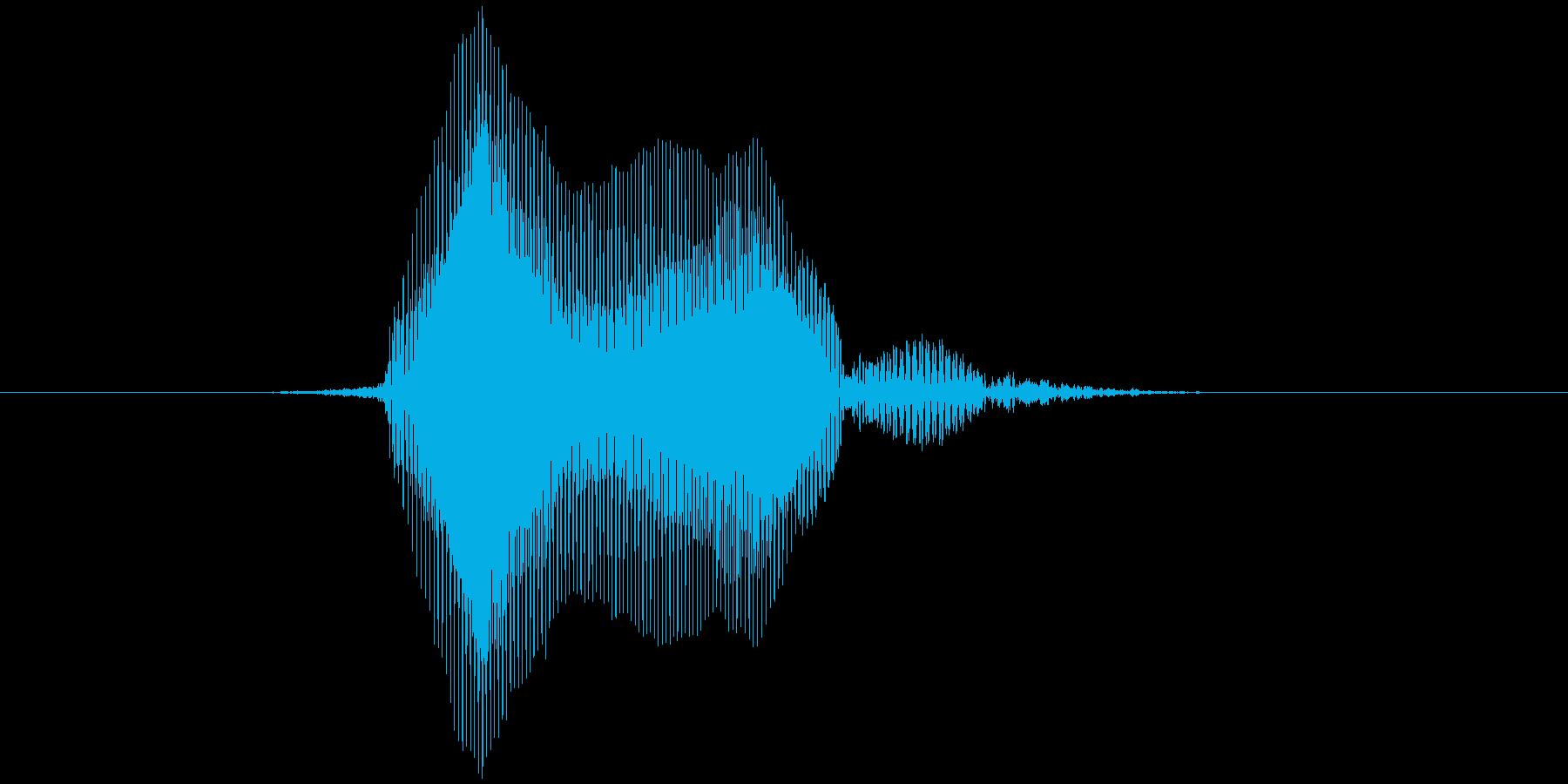 ファールの再生済みの波形