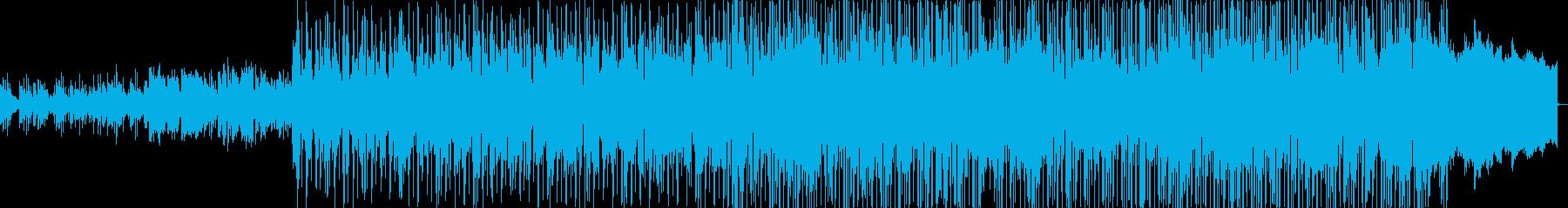 シャッフルリズムが印象的な明るいポップスの再生済みの波形