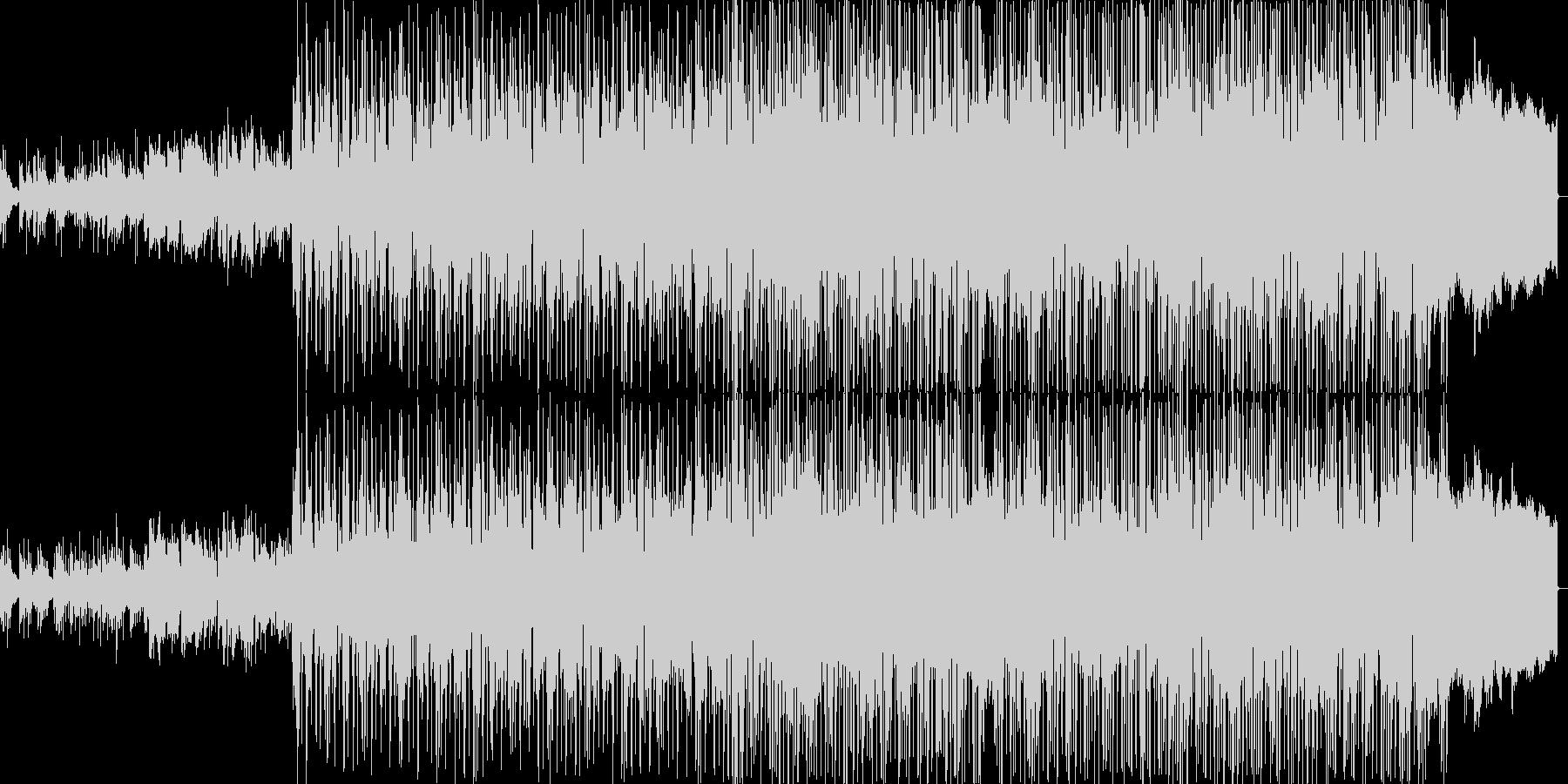 シャッフルリズムが印象的な明るいポップスの未再生の波形