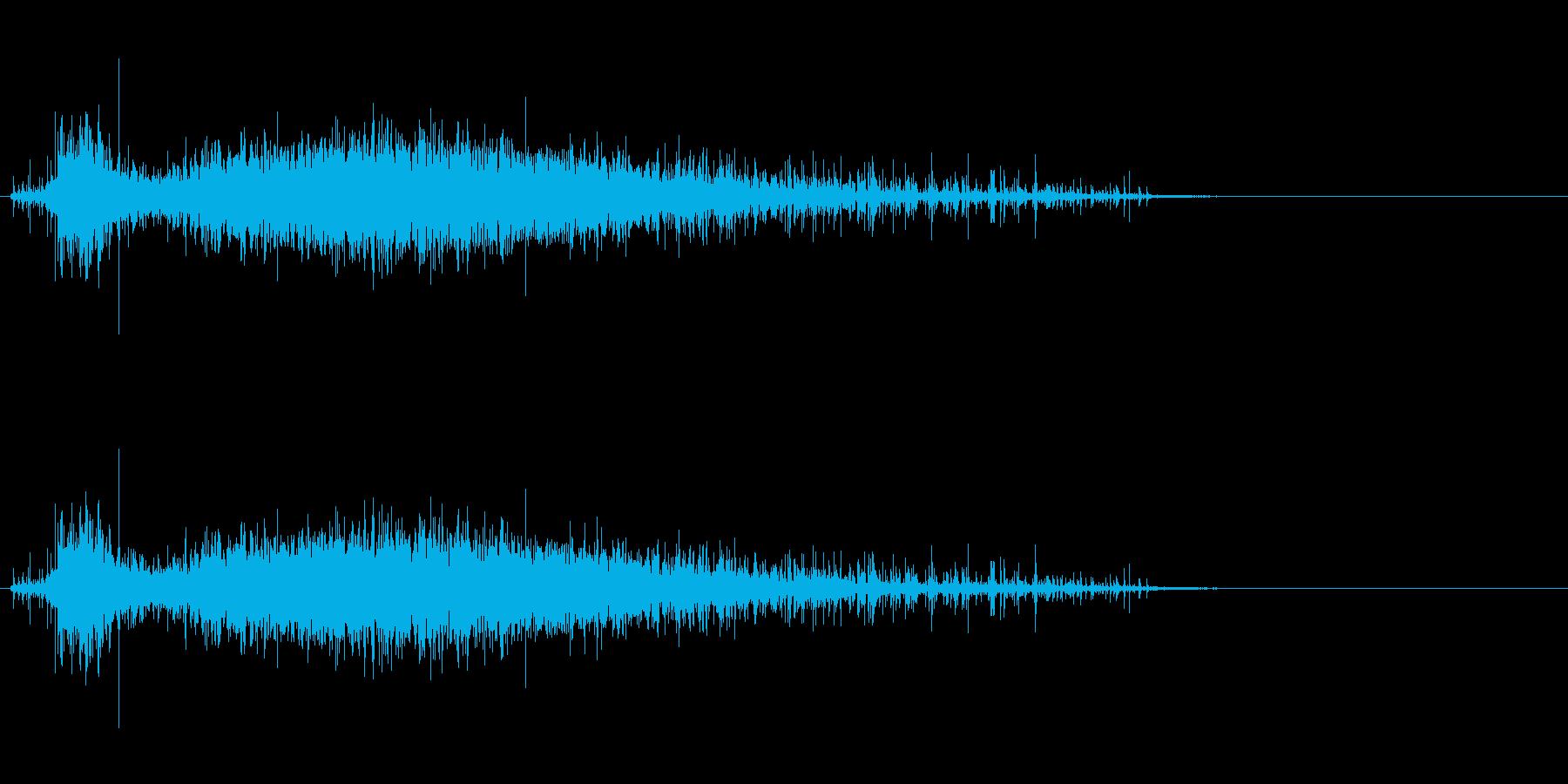「シャラ〜」レインシェーカー水音リバーブの再生済みの波形