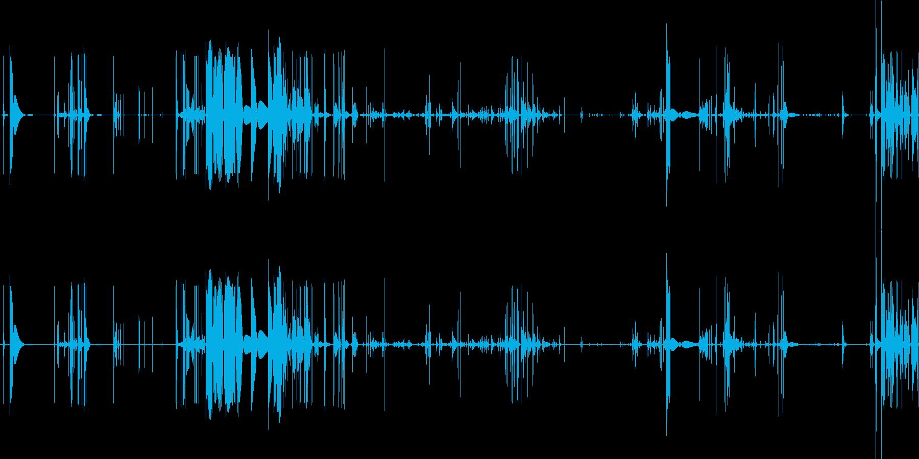 ホットタッチのノイズ素材ですの再生済みの波形