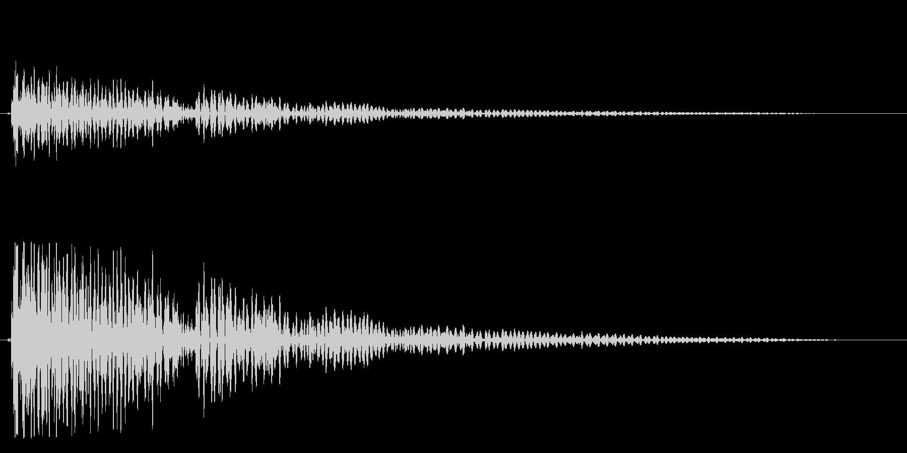 バァーン(恐怖におののく爆発音)の未再生の波形