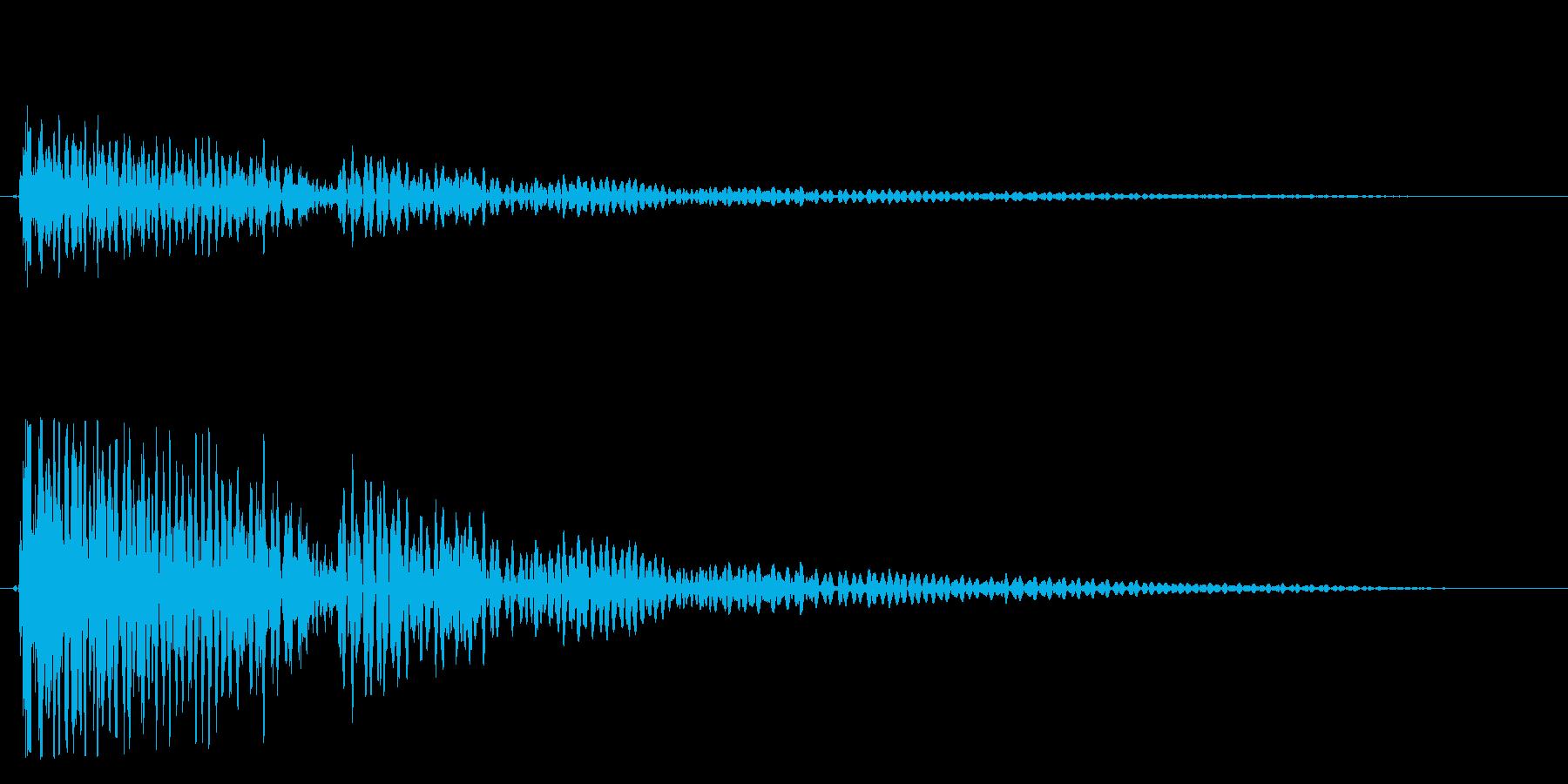 バァーン(恐怖におののく爆発音)の再生済みの波形