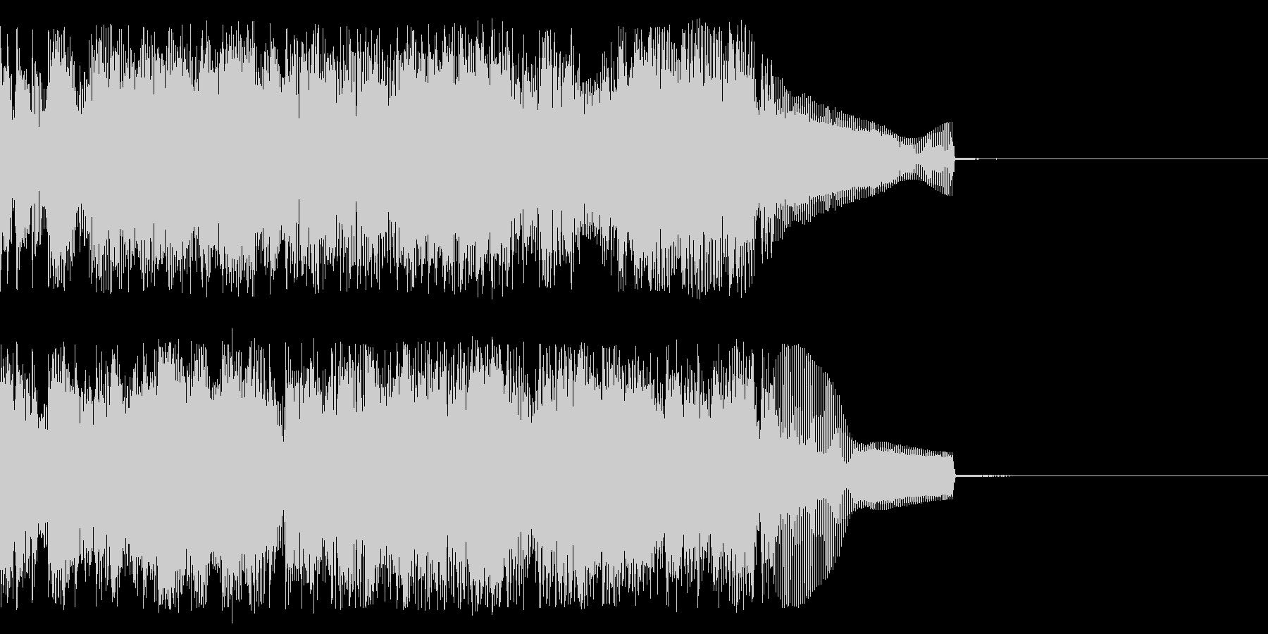 完了時の未再生の波形