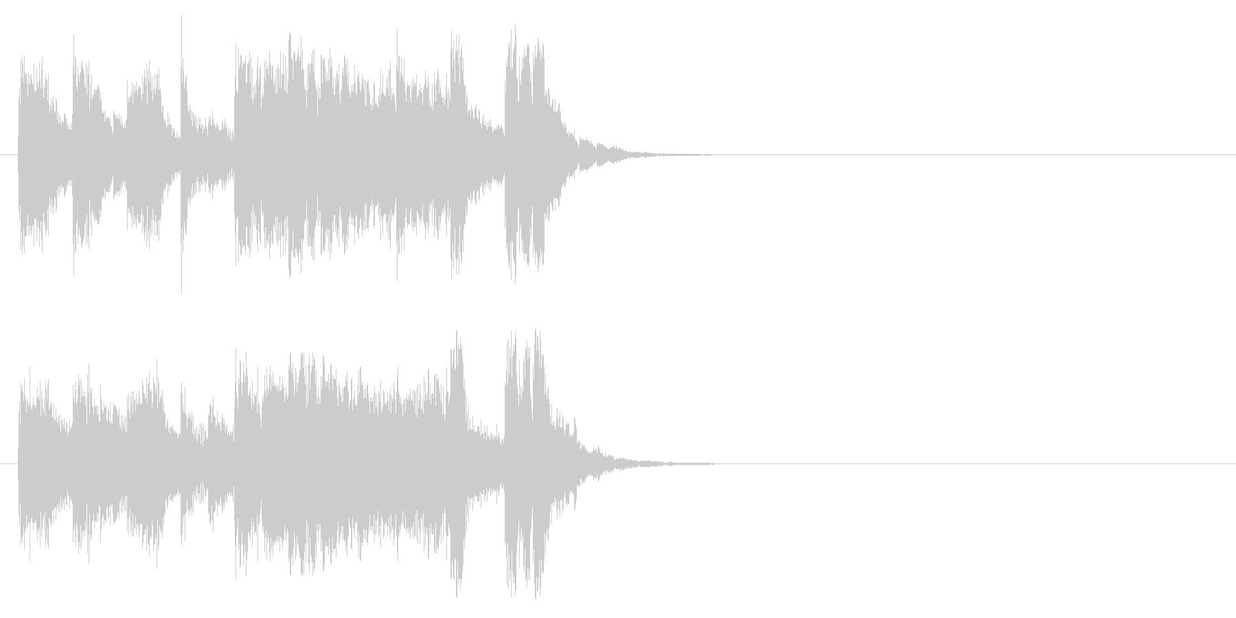 ジングル/アタック(子供のマーチ風)の未再生の波形
