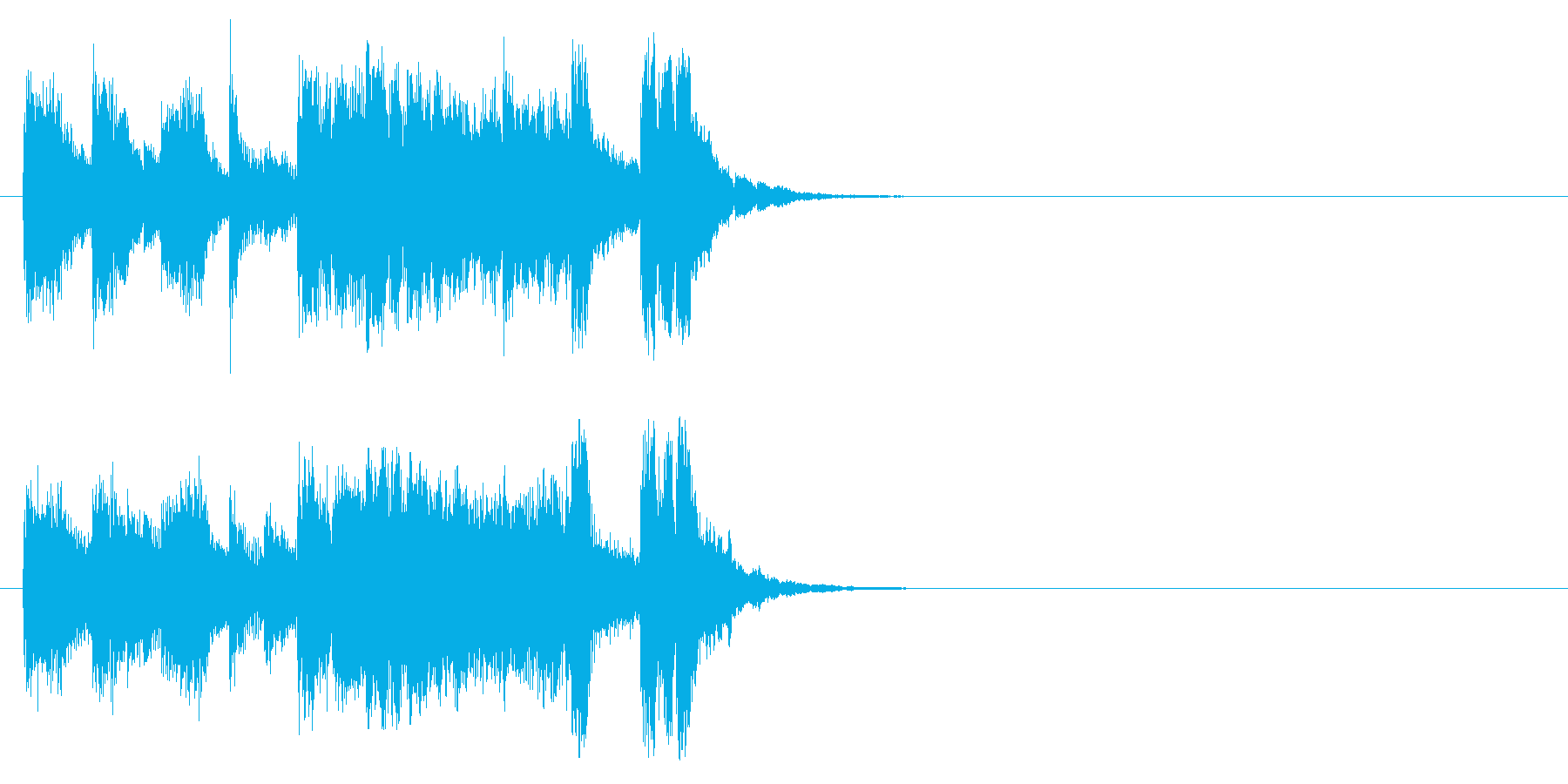 ジングル/アタック(子供のマーチ風)の再生済みの波形
