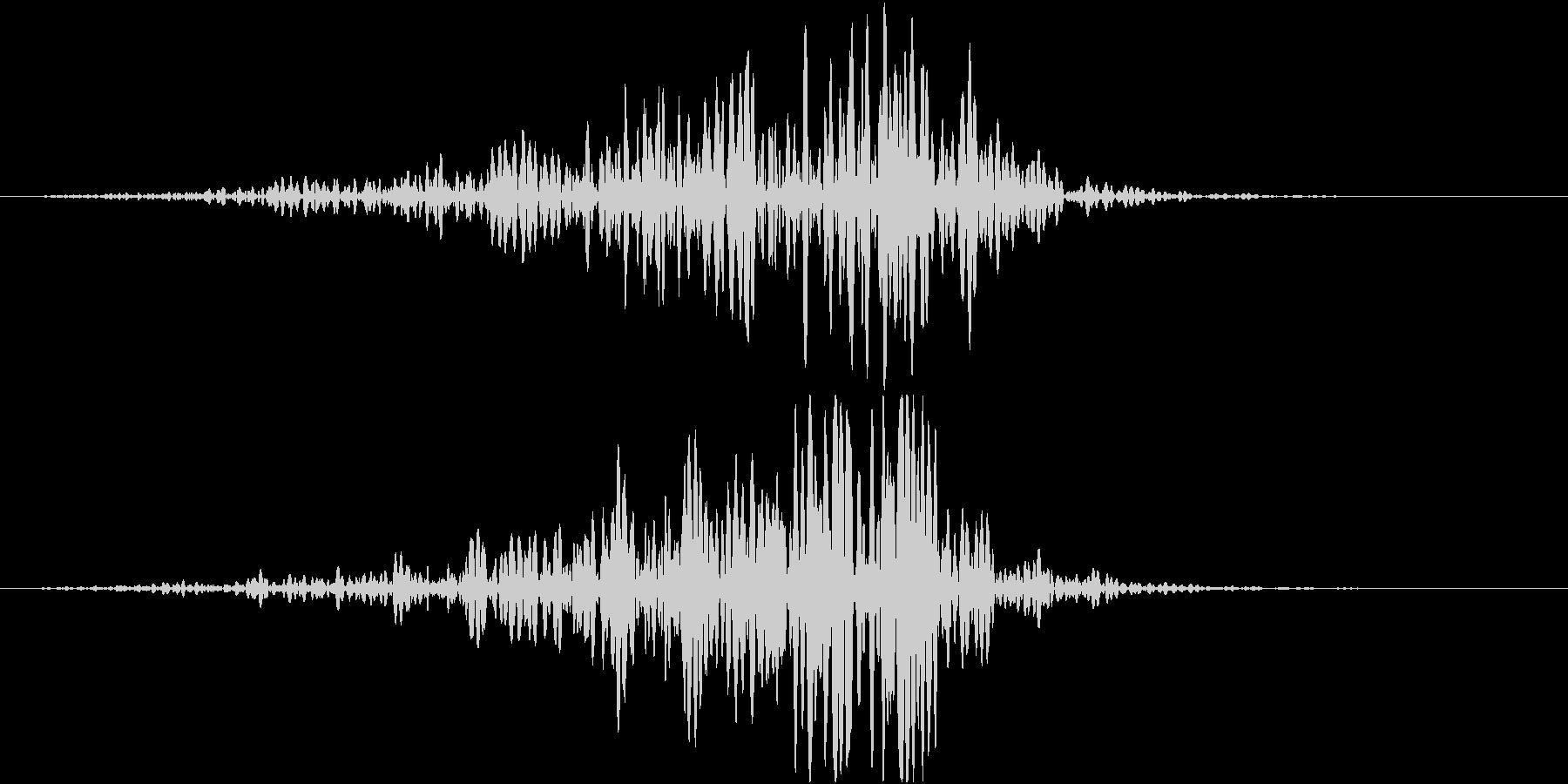 フォンオンオンオン(接近、余韻無し)の未再生の波形