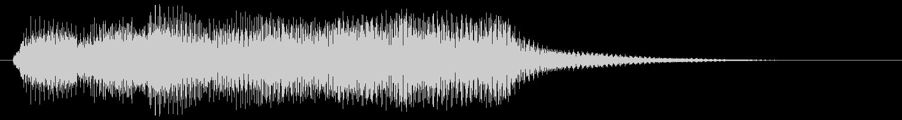 ゲームクリアや正解 ラッパ アクセント音の未再生の波形