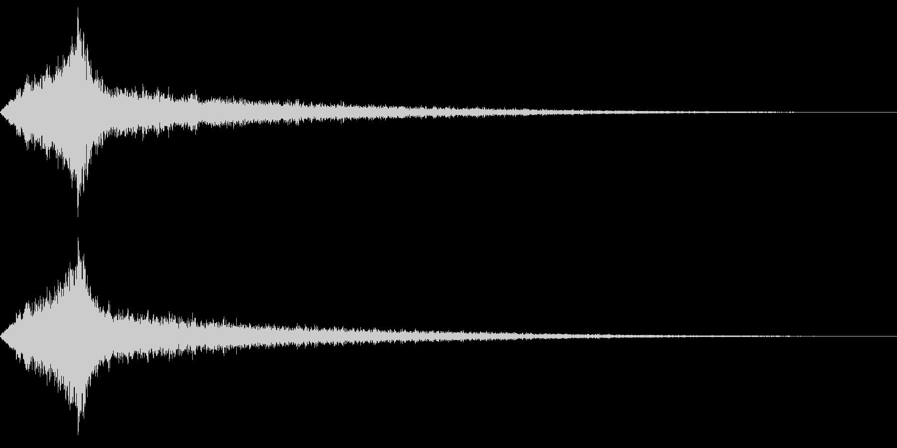 怖いタイトル、テロップ音の未再生の波形