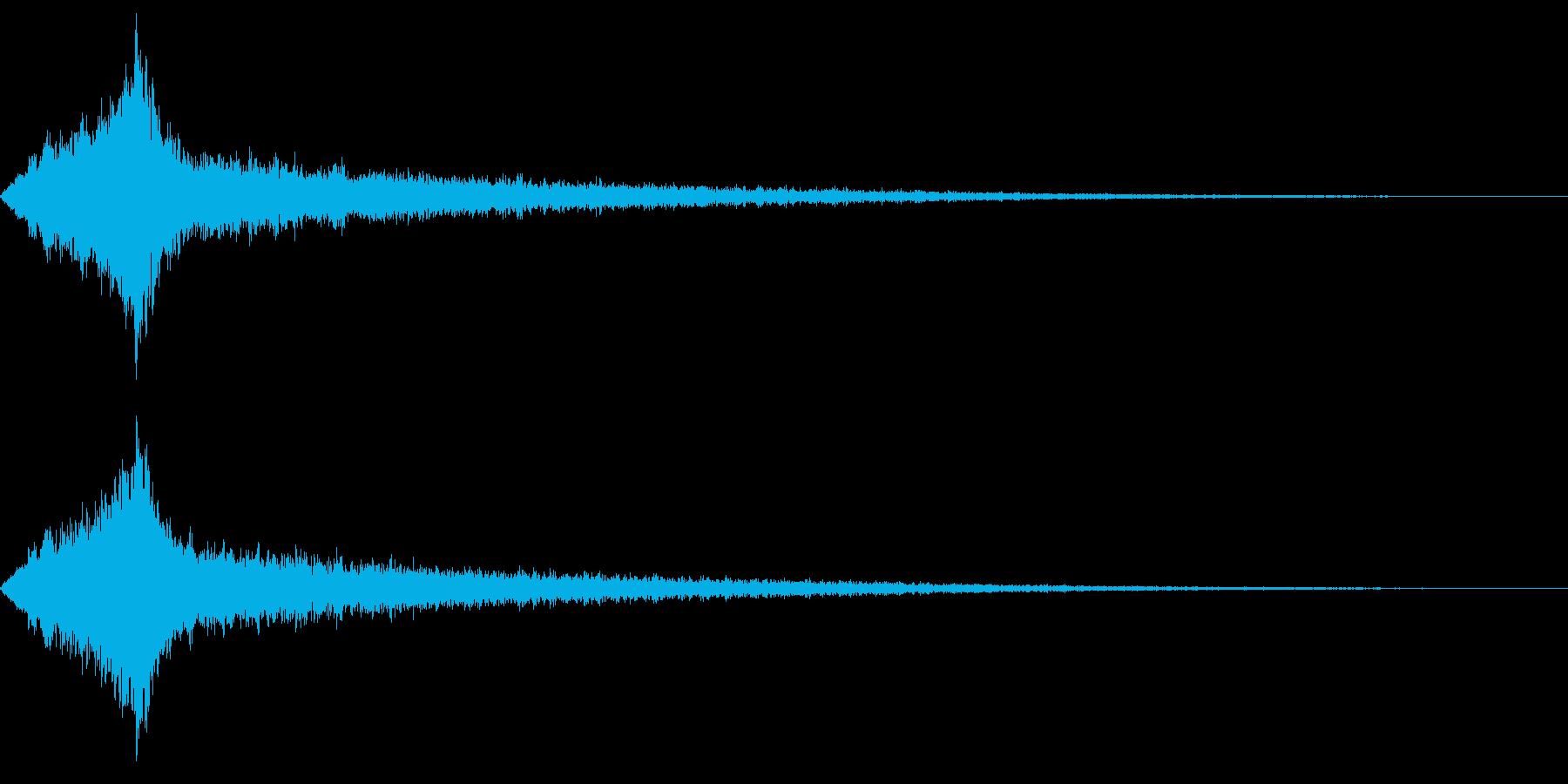 怖いタイトル、テロップ音の再生済みの波形