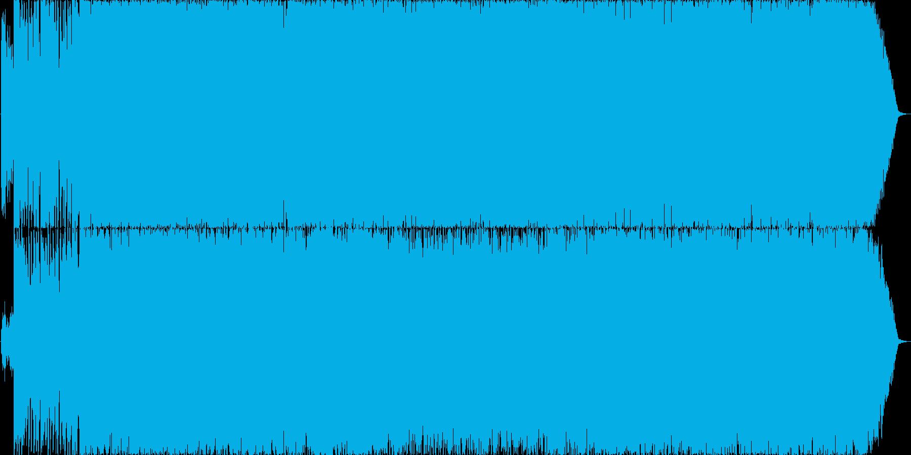 さわやかなストリングス系OP曲の再生済みの波形