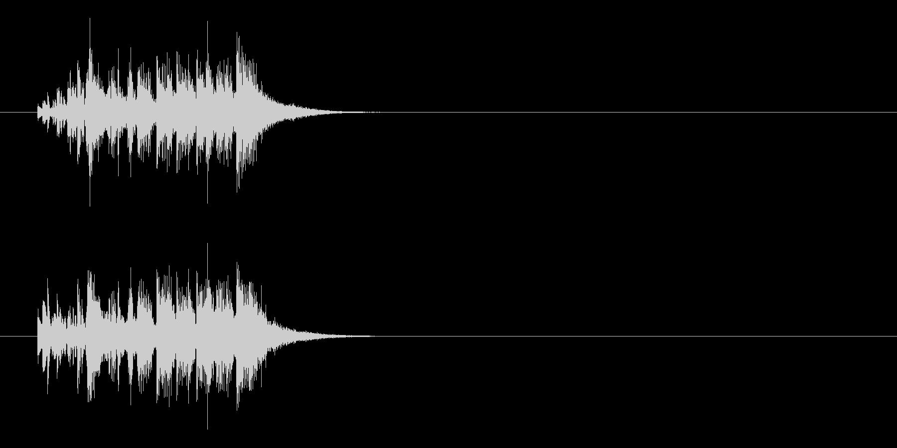 ジングル(ラテン調)の未再生の波形