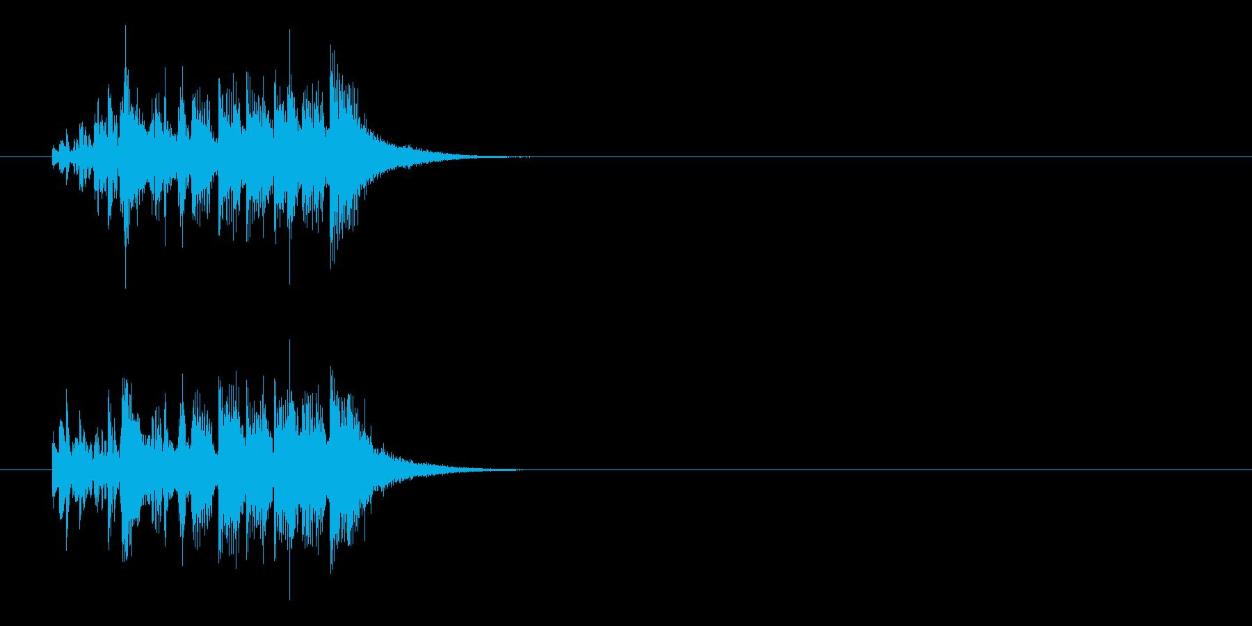 ジングル(ラテン調)の再生済みの波形