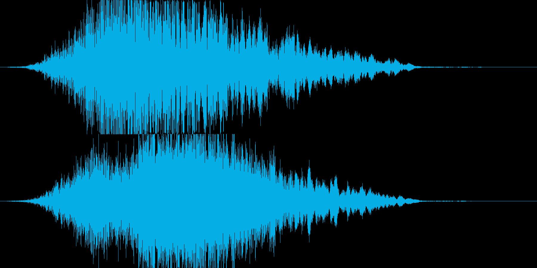 シュワーンと光がせり上がるような音の再生済みの波形