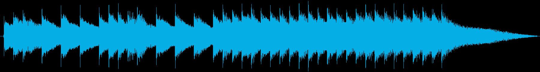 携帯電話の着信音(バッハパルティータ3番の再生済みの波形