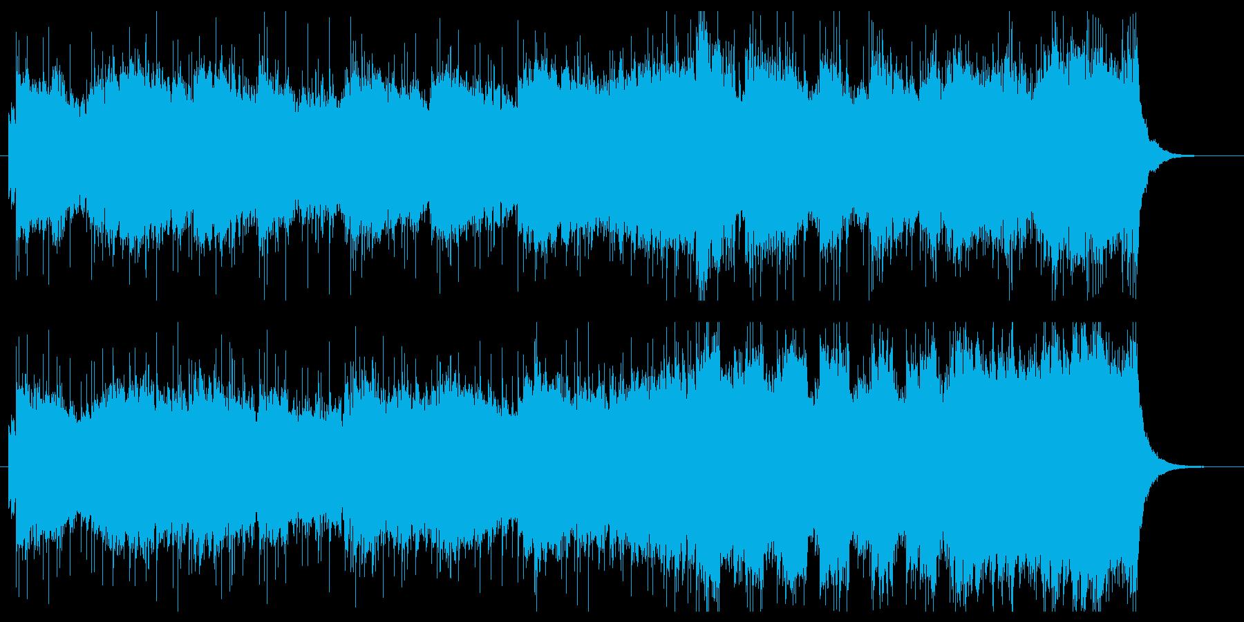 ロック調バトル、ゲーム、BGM向けの再生済みの波形