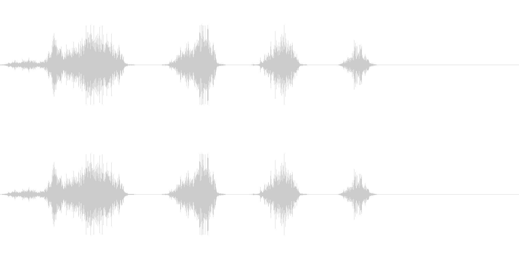 麺を啜る音の未再生の波形
