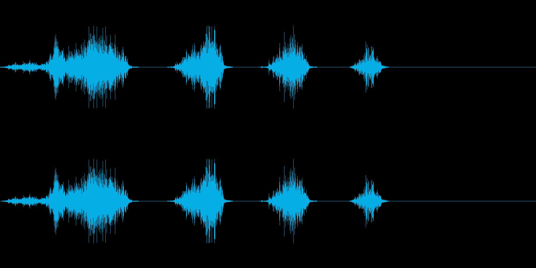 麺を啜る音の再生済みの波形
